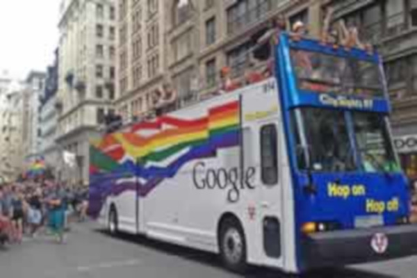 Google Gay Pride Bus