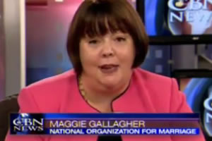 Gay Marriage Foe Maggie Gallagher: I Support Heterosexuality, Oppose Homophobia