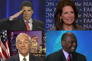 rick perry michele bachmann herman cain ron paul Exciting GOP Presidential Solutions the Media Ignore